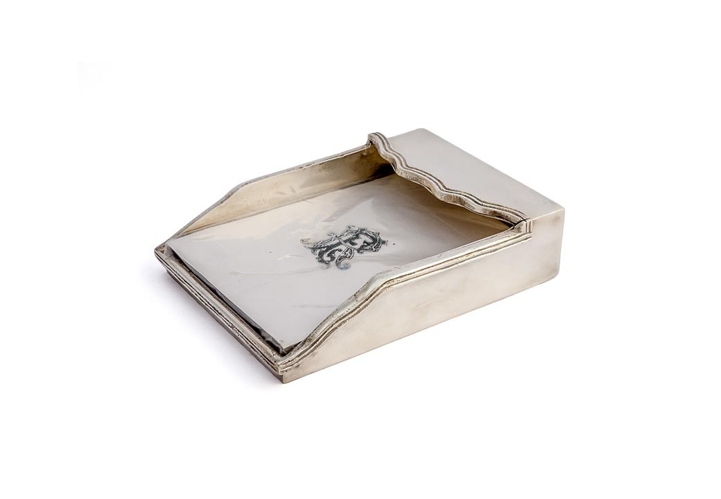 Porta Papel Silver Plated